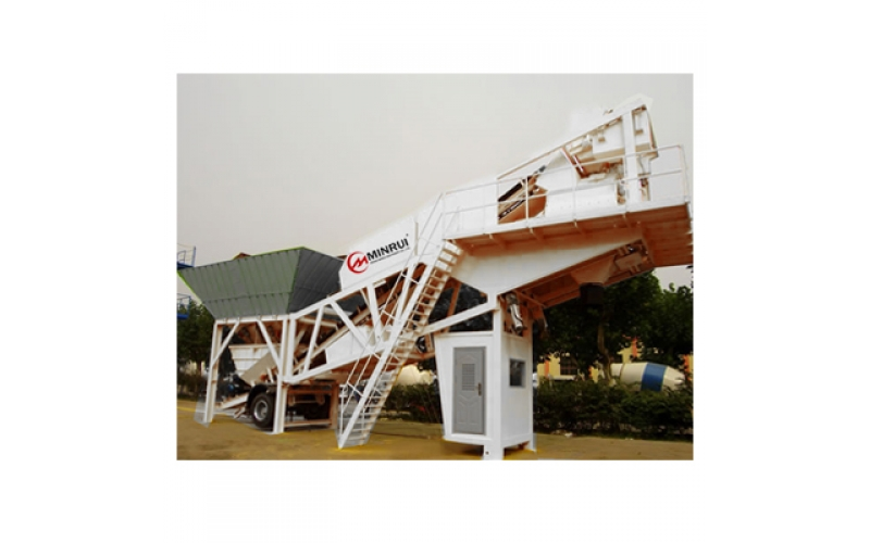 YHZS100 Mobile Concrete Batching Plant